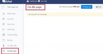 Hướng dẫn cài đặt Page trên Fchat