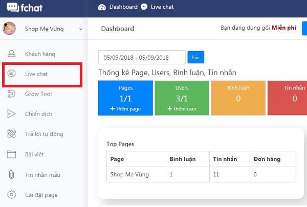 Hướng dẫn sử dụng chức năng Livechat trên Fchat