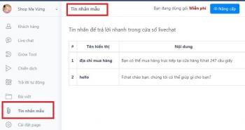 Hướng dẫn soạn thảo tin nhắn mẫu trên Fchat