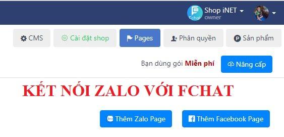 Hướng dẫn kết nối Zalo với Fchat
